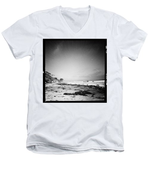 Men's V-Neck T-Shirt featuring the photograph Malibu Peace And Tranquility by Nina Prommer