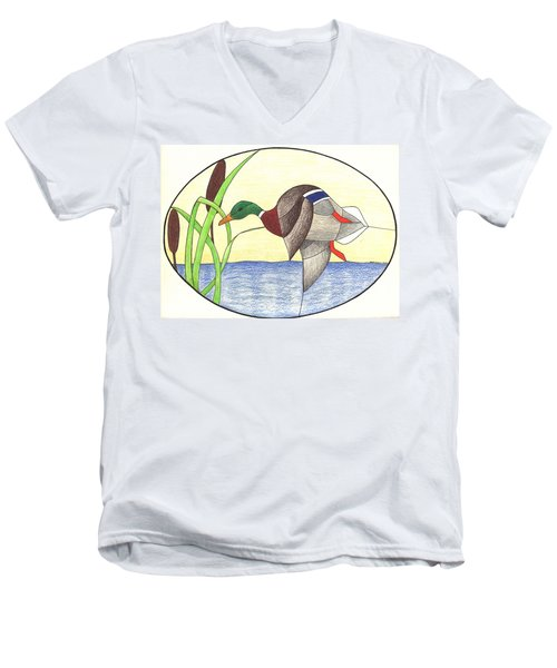 Mallard Duck Men's V-Neck T-Shirt