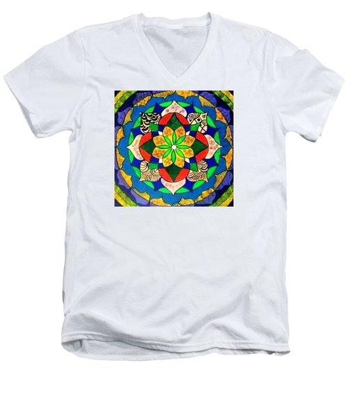 Mandala Circle Of Life Men's V-Neck T-Shirt