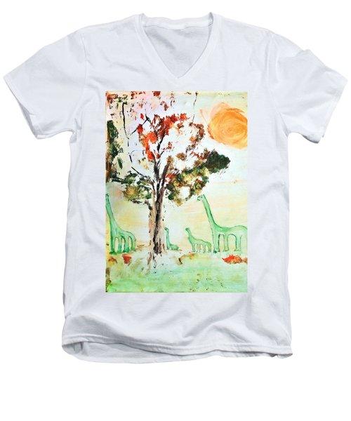 Matei's Dinosaurs Men's V-Neck T-Shirt