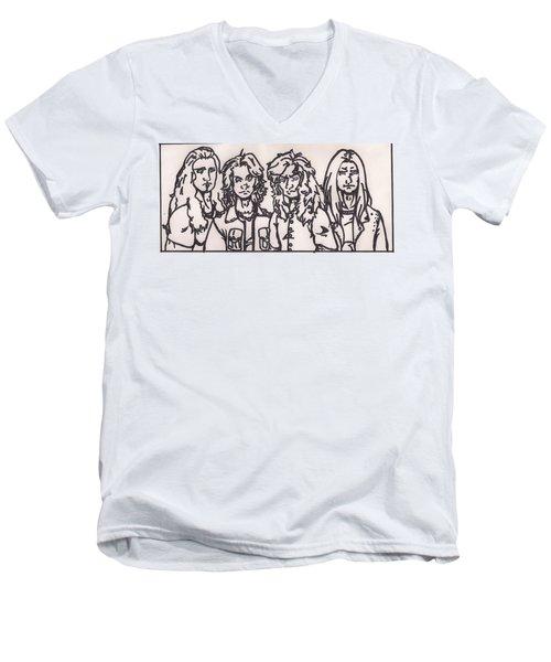 Megadeth Men's V-Neck T-Shirt by Jeremiah Colley