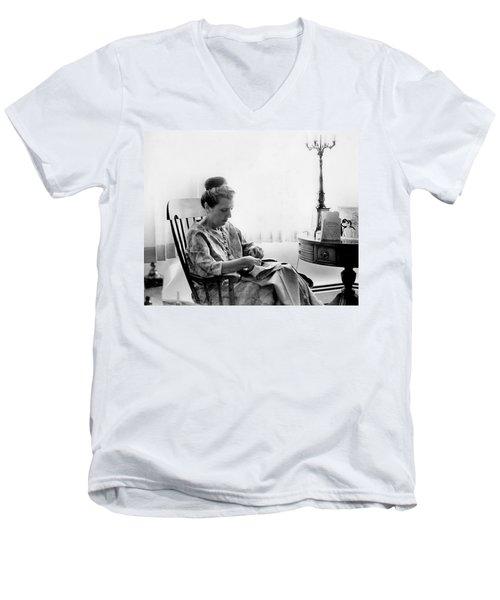 Mending More Than Clothes Men's V-Neck T-Shirt