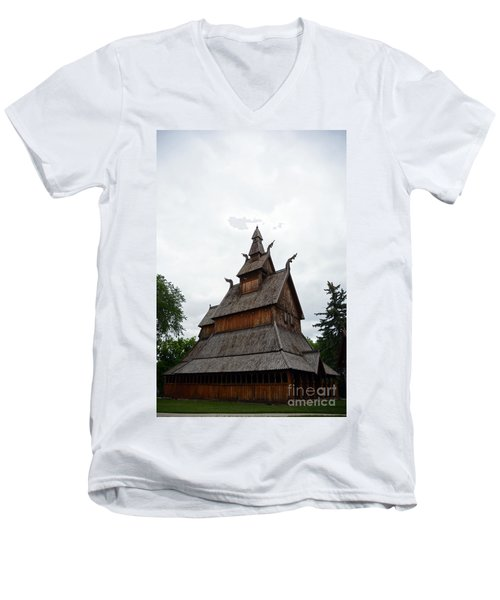 Moorhead Stave Church 26 Men's V-Neck T-Shirt
