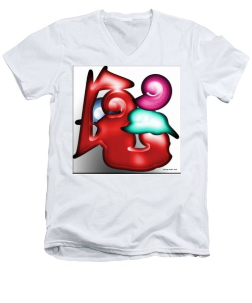 Men's V-Neck T-Shirt featuring the digital art Mother And Child In The Daylight by George Pedro