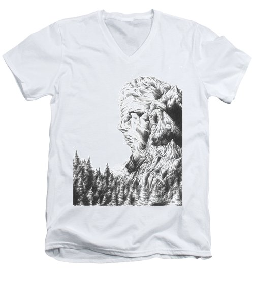 Mother Nature - Face Of The Earth Men's V-Neck T-Shirt