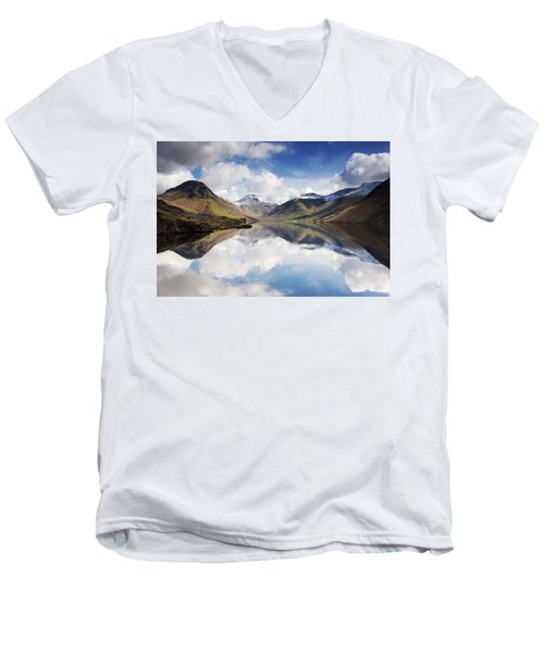 Men's V-Neck T-Shirt featuring the photograph Mountains And Lake, Lake District by John Short