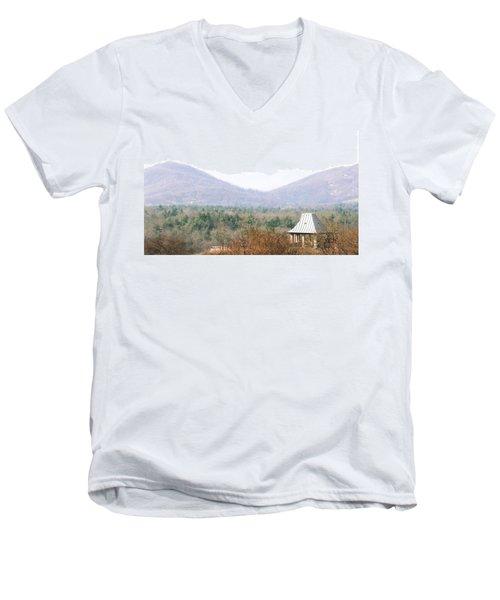 Mountains At Biltmore Men's V-Neck T-Shirt