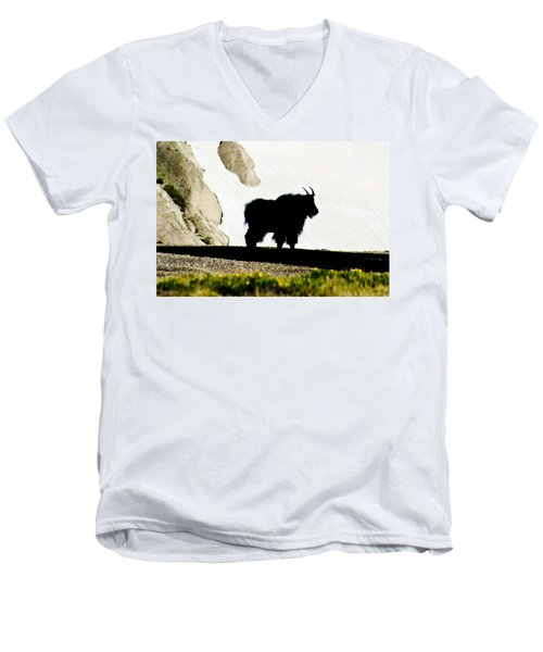Men's V-Neck T-Shirt featuring the photograph Nature's Silhouette by Colleen Coccia