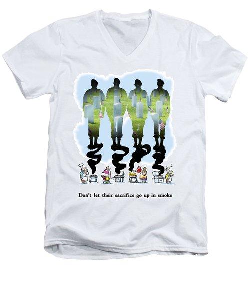 Never Forget Men's V-Neck T-Shirt