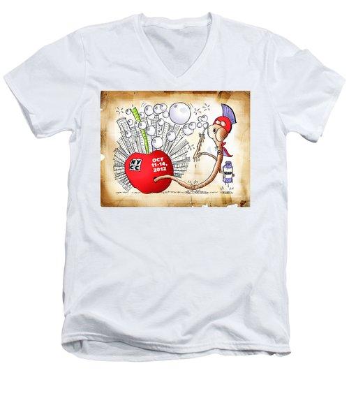 New York Comic Con 2012 Men's V-Neck T-Shirt