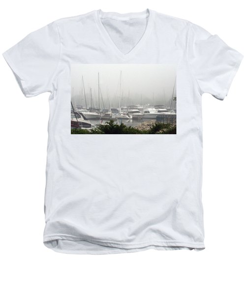 Men's V-Neck T-Shirt featuring the photograph No Sailing Today by Kay Novy