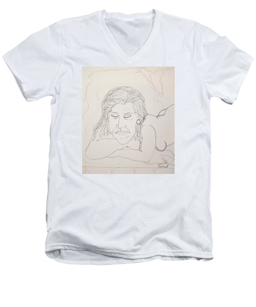 Nude Contour In Ink Men's V-Neck T-Shirt