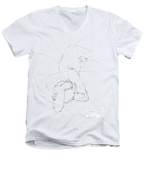Nude Male Drawings 7 Men's V-Neck T-Shirt