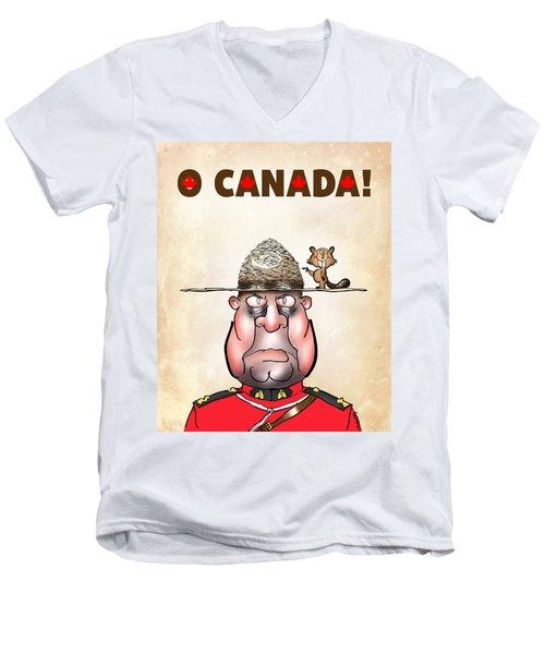 O Canada Men's V-Neck T-Shirt