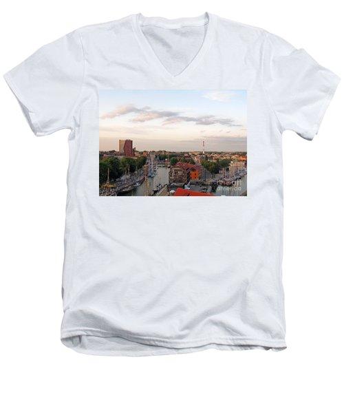 Old Town Klaipeda. Lithuania. Men's V-Neck T-Shirt by Ausra Huntington nee Paulauskaite