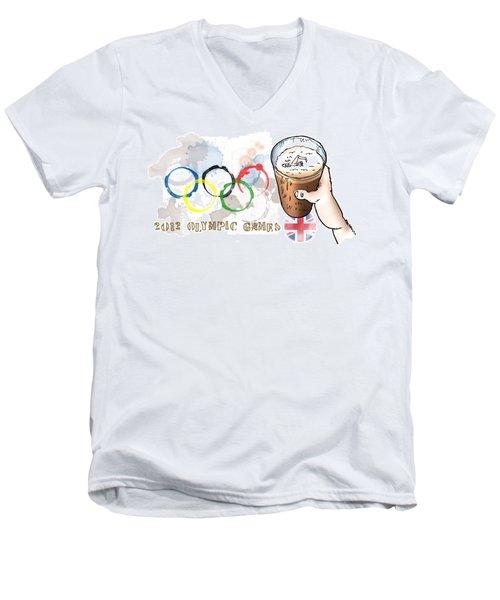 Olympic Rings Men's V-Neck T-Shirt