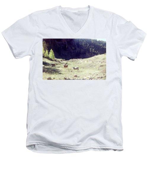 Men's V-Neck T-Shirt featuring the photograph Open Range by Bonfire Photography