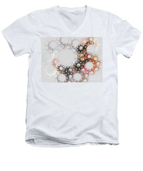 Men's V-Neck T-Shirt featuring the digital art Orbital by Kim Sy Ok
