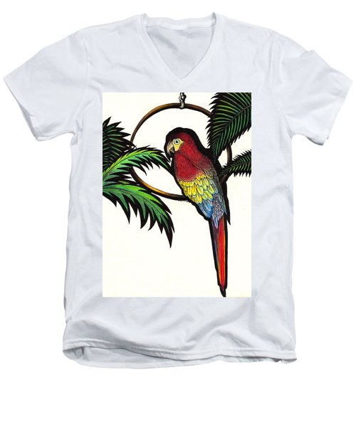 Parrot Shadows Men's V-Neck T-Shirt