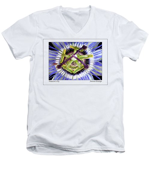 Men's V-Neck T-Shirt featuring the photograph Passion's Fly by Jennie Breeze
