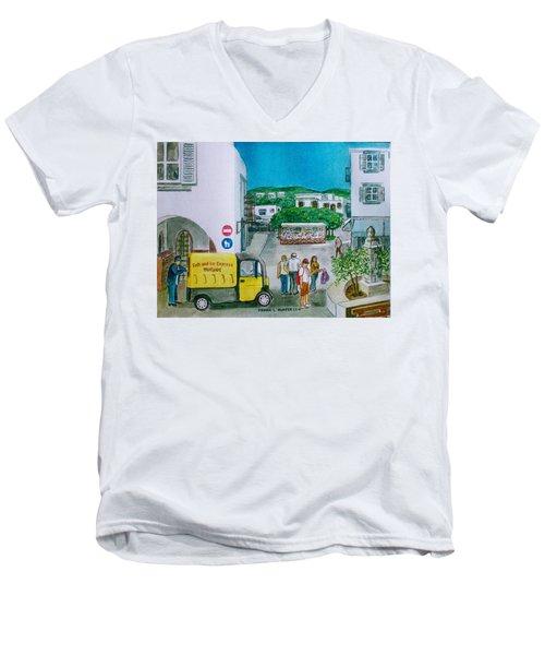 Patmos Fish Monger Men's V-Neck T-Shirt
