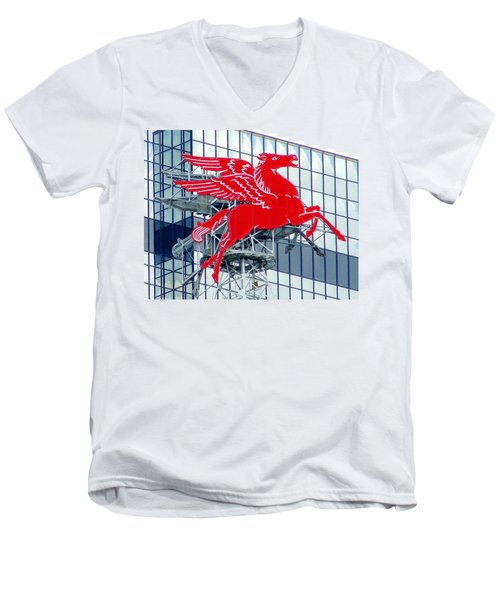 Pegasus Men's V-Neck T-Shirt