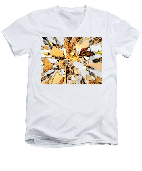 Men's V-Neck T-Shirt featuring the digital art Pieces Of Gold by Phil Perkins