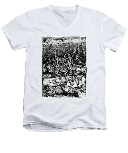 Poison Ivy Roots Men's V-Neck T-Shirt by Judi Bagwell
