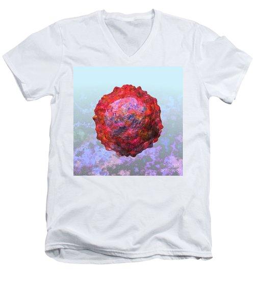 Polio Virus Particle Or Virion Poliovirus 2 Men's V-Neck T-Shirt