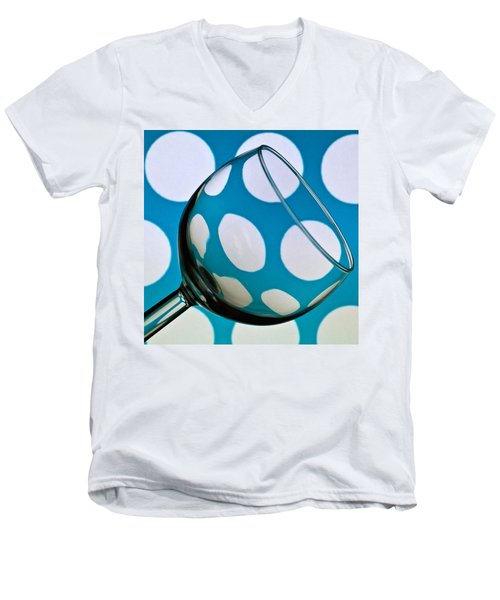 Men's V-Neck T-Shirt featuring the photograph Polka Dot Glass by Steve Purnell