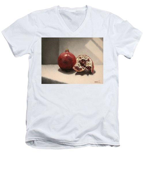 Pomegranate Men's V-Neck T-Shirt