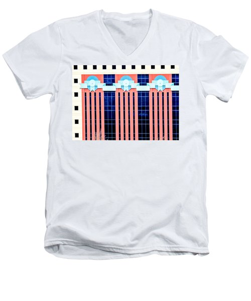 The Portland Building Men's V-Neck T-Shirt