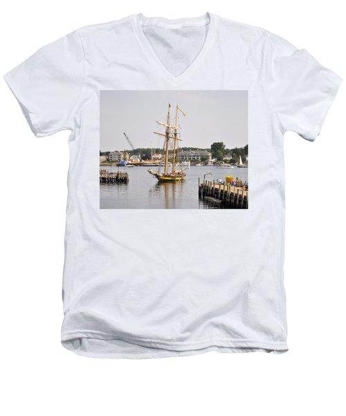 Pride Of Baltimore II Pb2p Men's V-Neck T-Shirt by Jim Brage