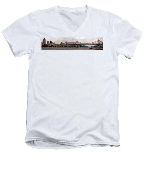 Queensboro Bridge Men's V-Neck T-Shirt