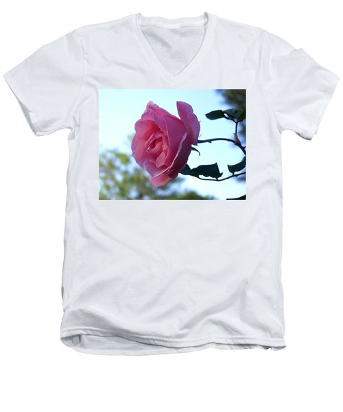 Men's V-Neck T-Shirt featuring the photograph Reaching For Sunlight by Kathy  White