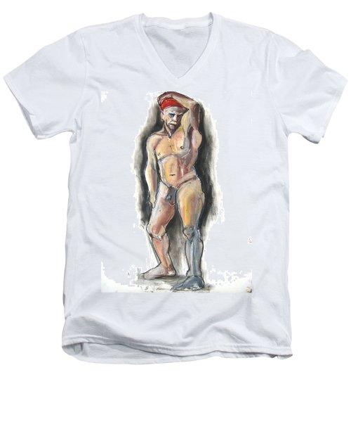 Red Bandana Men's V-Neck T-Shirt