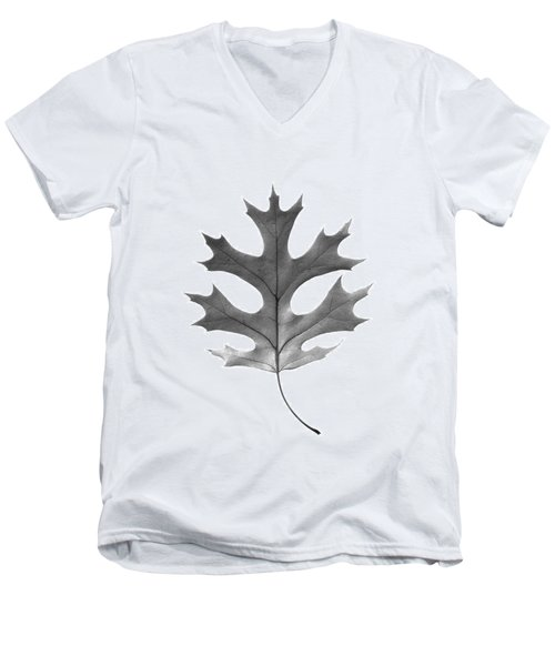 Red Oak Leaf Men's V-Neck T-Shirt