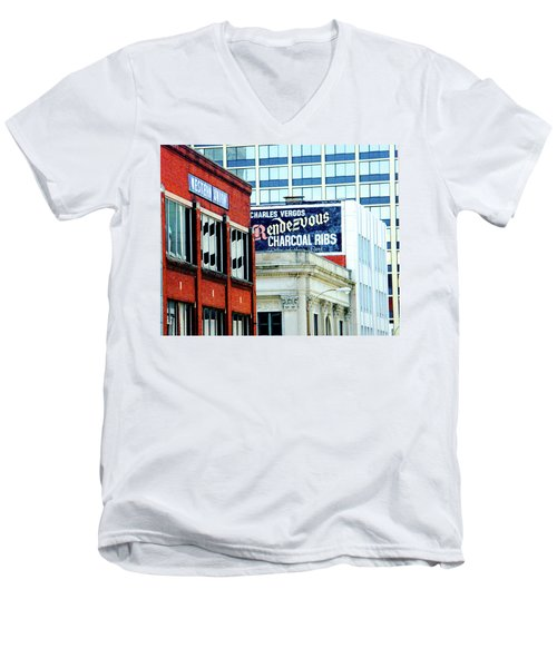 Men's V-Neck T-Shirt featuring the photograph Rendezvous by Lizi Beard-Ward