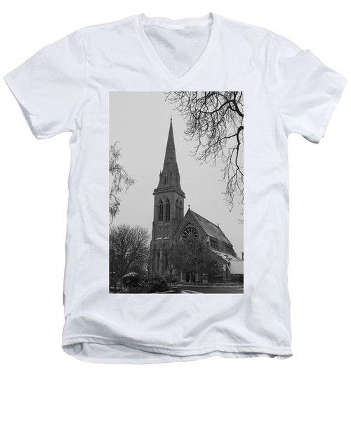 Men's V-Neck T-Shirt featuring the photograph Richmond Village Church by Maj Seda