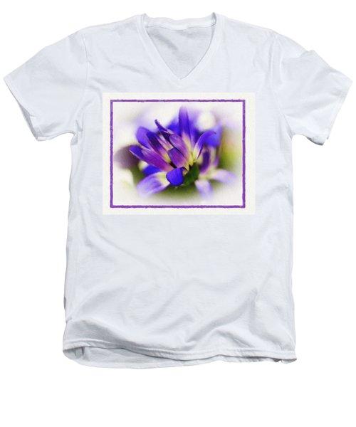 Royal Purple Men's V-Neck T-Shirt by Judi Bagwell