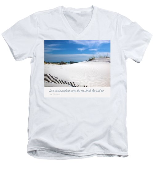 Sand Dunes Dream 3 Men's V-Neck T-Shirt by Marie Hicks