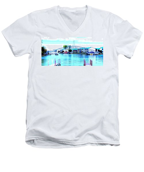 Sandy Beach Bridge Men's V-Neck T-Shirt
