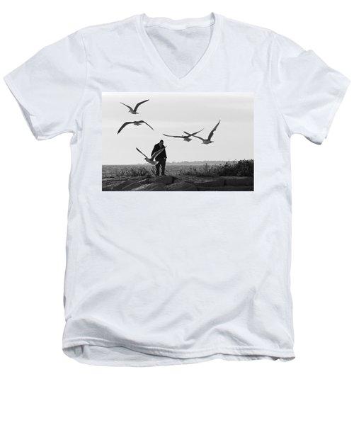 Seaside Men's V-Neck T-Shirt