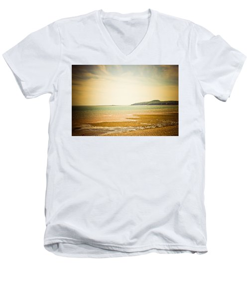 Men's V-Neck T-Shirt featuring the photograph Serenity by Sara Frank