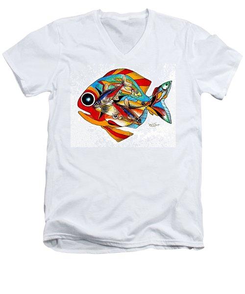 Seven Fish Men's V-Neck T-Shirt