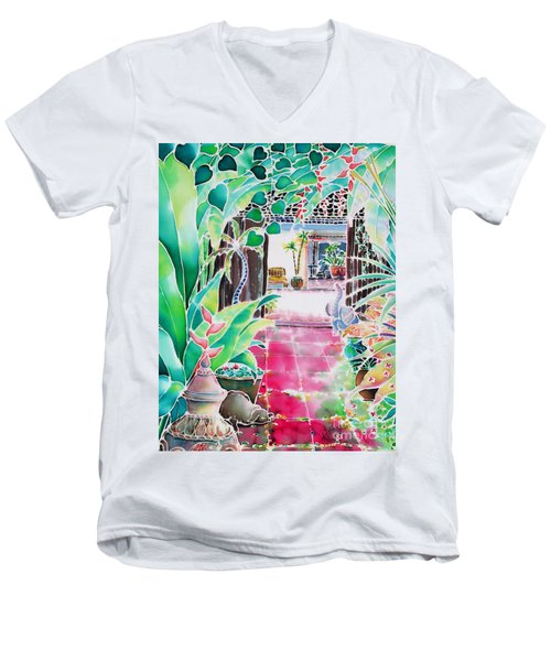 Shade In The Patio Men's V-Neck T-Shirt