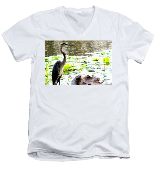 Men's V-Neck T-Shirt featuring the photograph Silent Solitude by Kathy  White