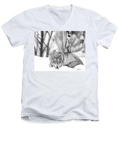 Sleeping In The Snow Men's V-Neck T-Shirt