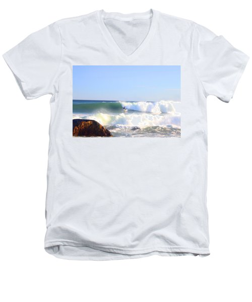Snake Hole Surfer Men's V-Neck T-Shirt