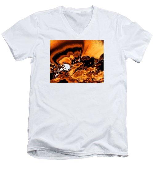 Solar Flare Men's V-Neck T-Shirt by Rebecca Margraf